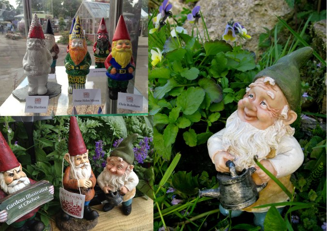 Borage and his friends at this year's Chelsea Flower Show